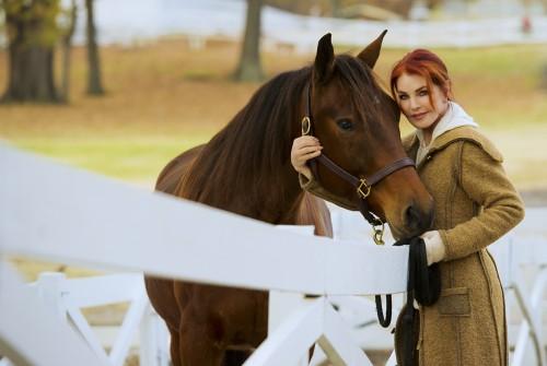 Priscilla Presley and Max at Graceland