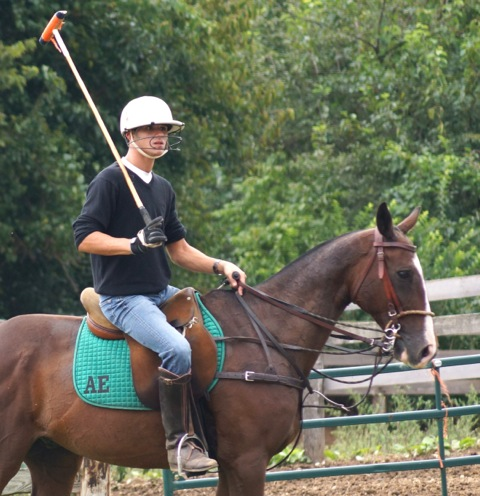 Alex and his polo pony, Rio. Photo by Bob Ebel