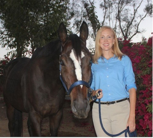 Susan and her new equine BFF, the ex-racehorse Knight. Photo Courtesy of Susan Friedland-Smith