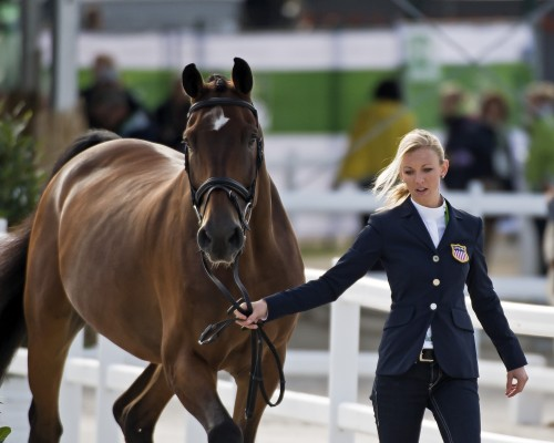 Laura and Verdades during the jog at the 2014 World Equestrian Games in Normandy, France. Photo by Allen MacMillan