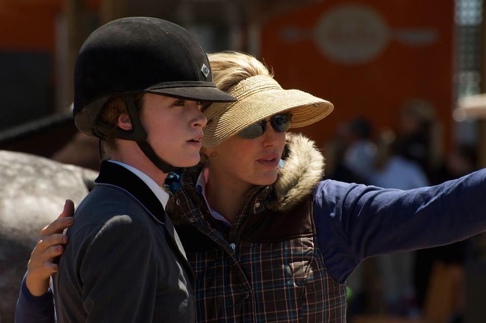 Emma, left, with her trainer Hope Glynn. (Photo courtesy of Emma Waldfogel)