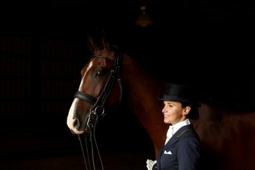 Chrissa with the American Saddlebred Harry Callahan.