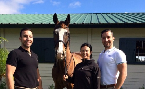 Chrissa and Mireill, owned by Chris and Robert Desino of Wellington Equestrian Realty. Photo courtesy of the Desinos