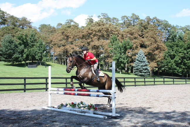 Fernanda on Attlee during a lesson at Winley Farms. (Photo by Rebecca Baldridge)