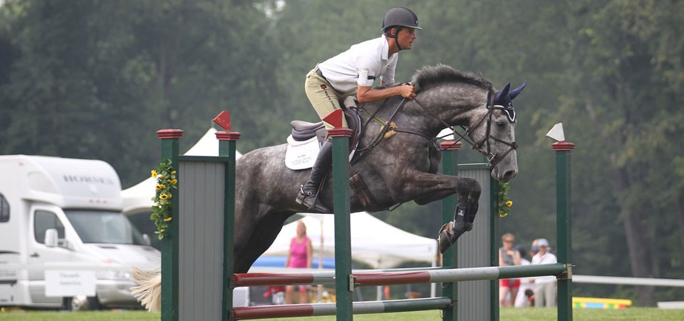 Boyd Martin competing at Fitch's Corner Horse Trials. (Photo by Brian Wilcox, Connecticutphoto.com)