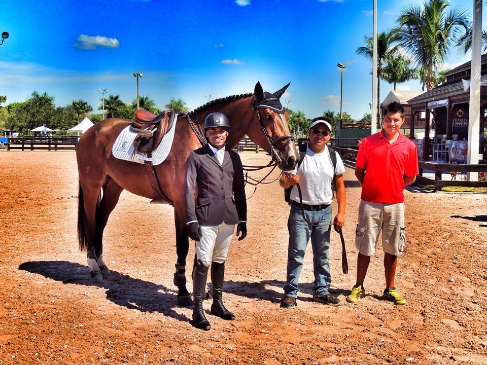 Ki-Juan at the Winter Equestrian Festival with Matana. (Photo courtesy of Ki-Juan Minors)