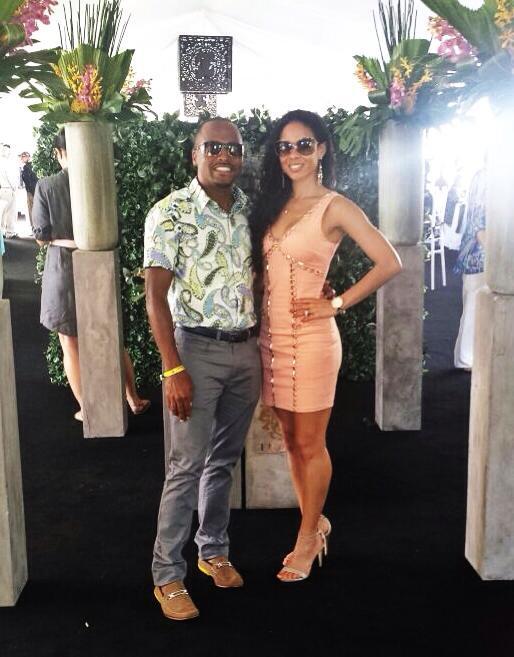 Ki-Juan, a 2013 Sidelines Magazine Hot Horsemen, with his wife Courtney at the Trump Invitational. (Photo courtesy of Ki-Juan Minors)