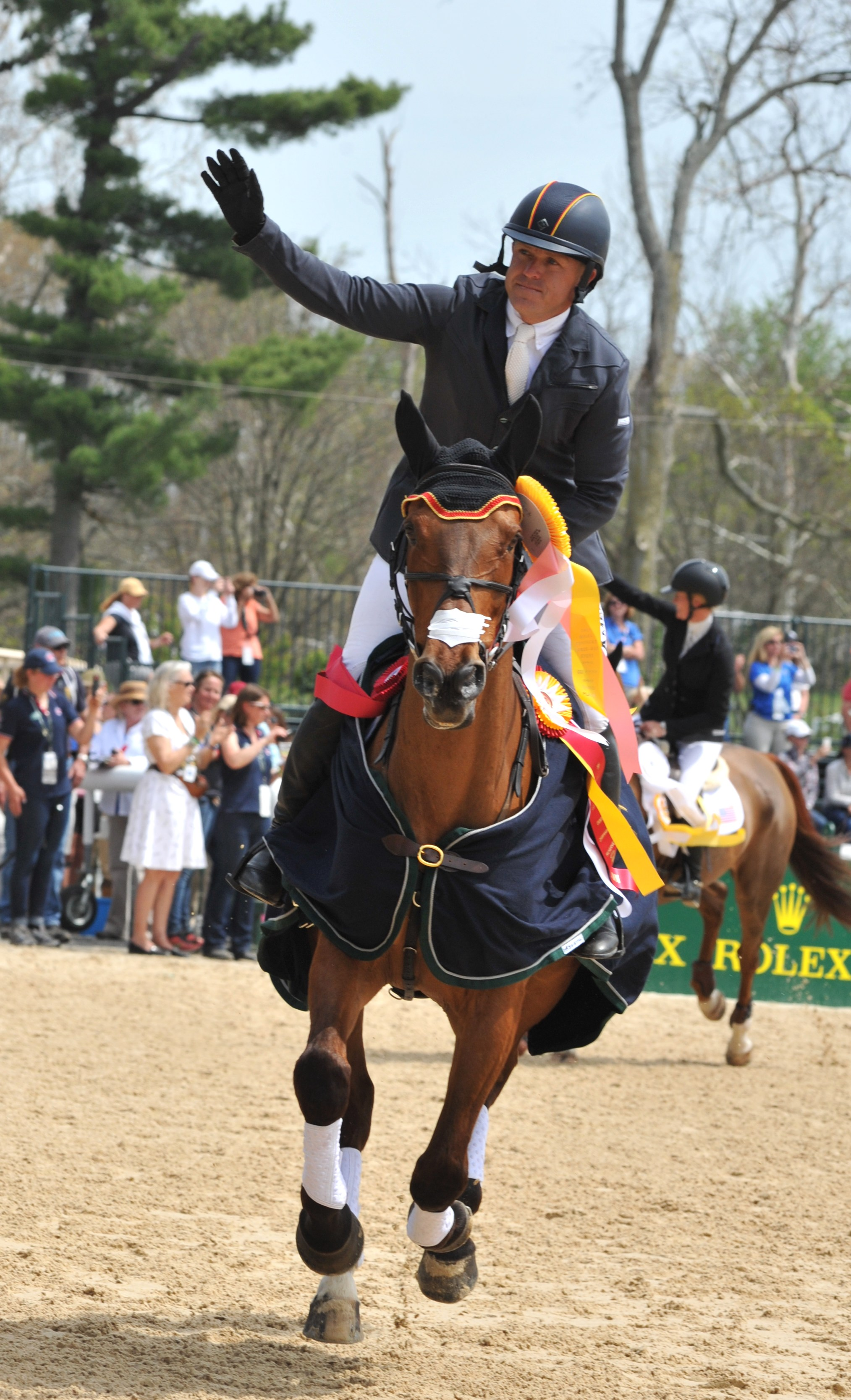 At the 2014 Rolex Kentucky Three-Day Event, Buck Davidson and Ballynoe Castle RM finished third overall and, as the second highest-placed American combination, earned the USEF National Four-Star reserve championship. (Photo by Lauren R. Giannini)