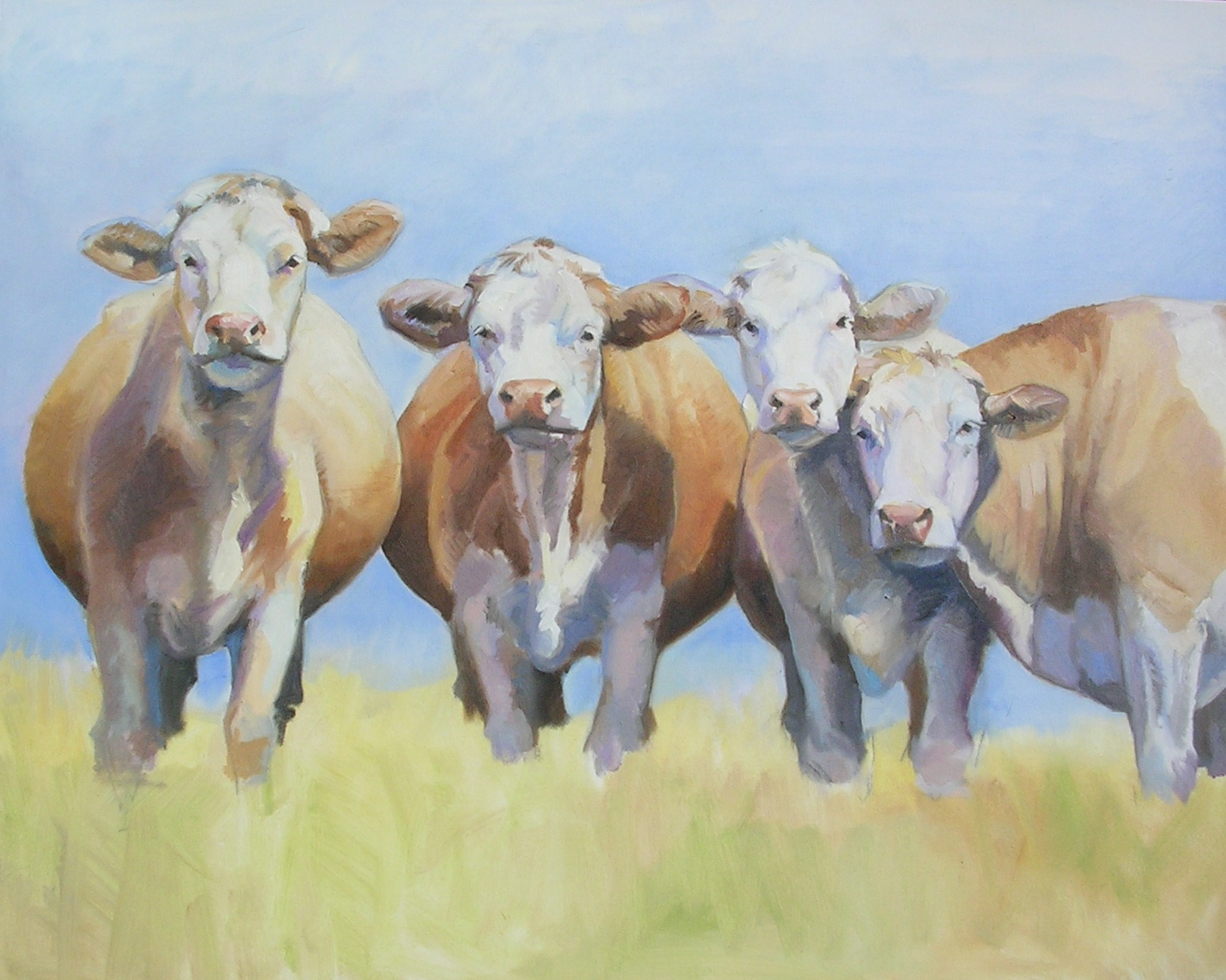 """Summertime"" — farm animals, especially cows, are a new favorite subject for Melinda. (Photo courtesy of Melinda Brewer)"