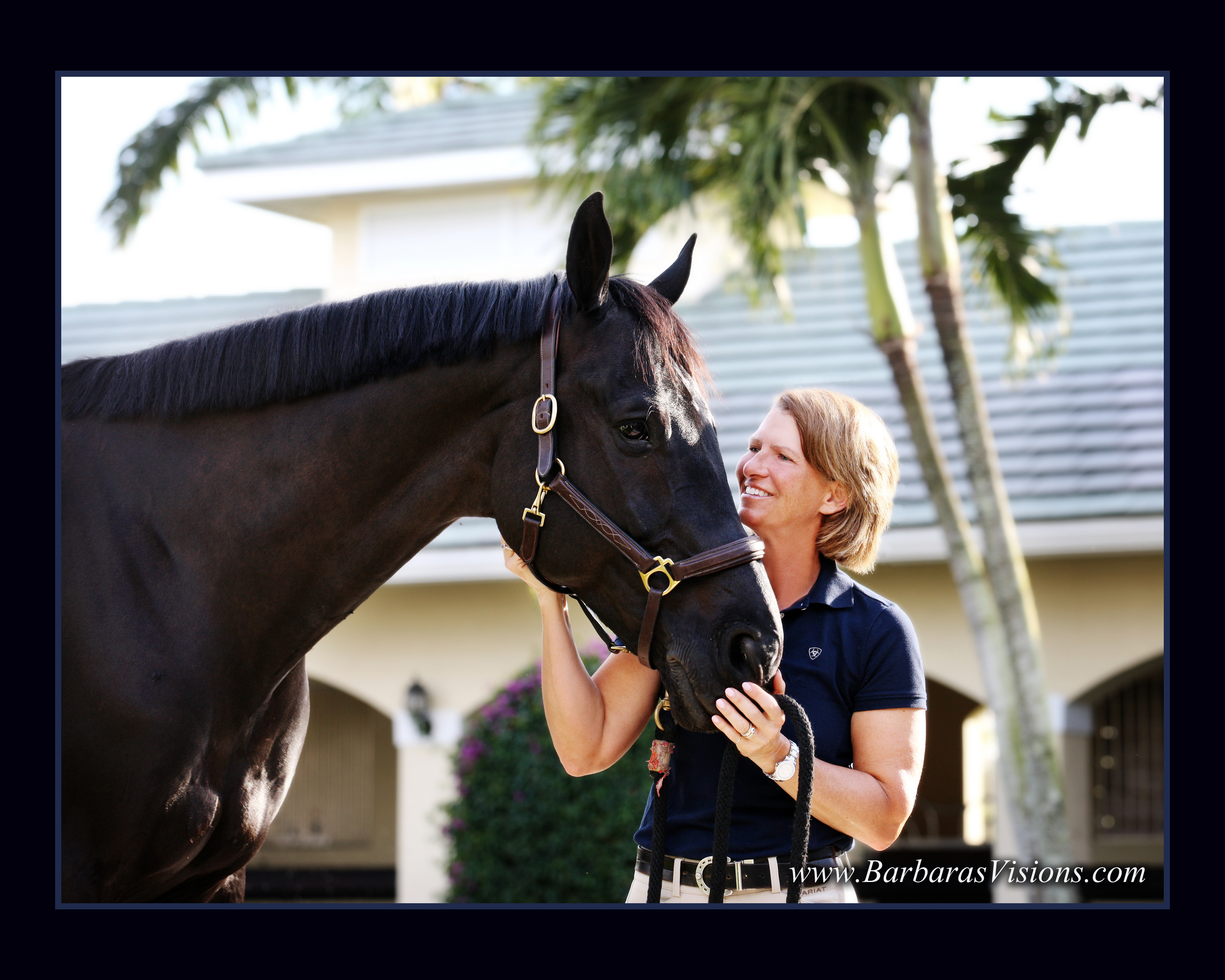 Beezie with Cortes 'C', owned by Abigail Wexner, in Wellington, Florida. (Photo by Barbara Bower, Barbarasvisions.com)