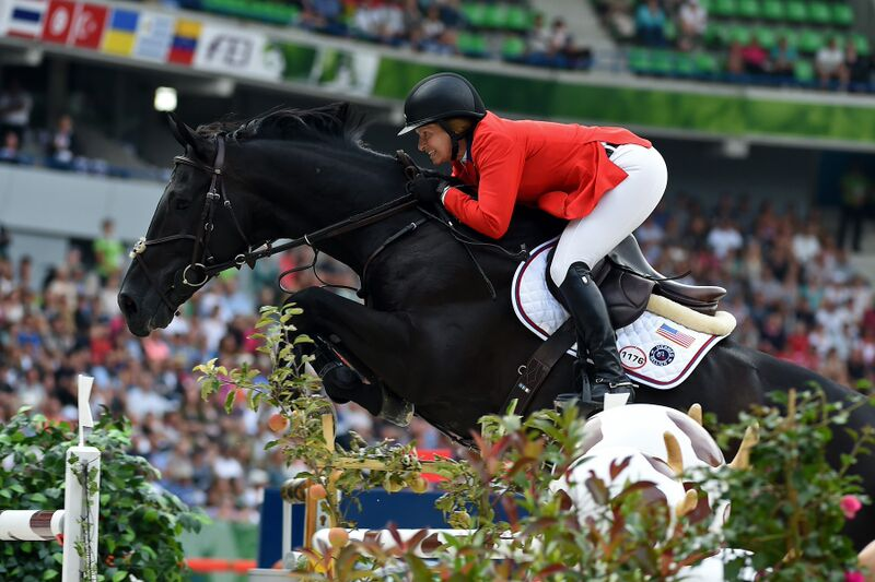 Beezie and Cortes 'C' in Normandy. (Photo by Allen MacMillan/MacMillan Photography)