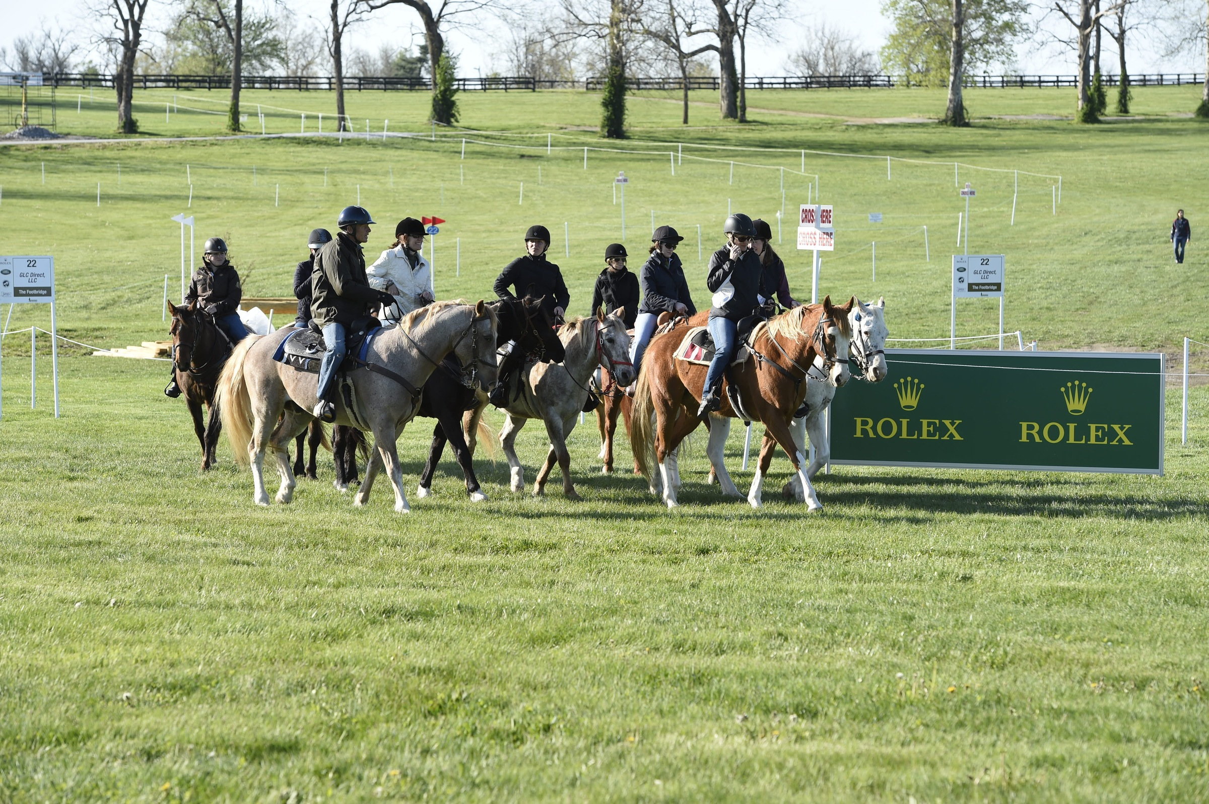 A small group of equestrian media members, including Sidelines' very own Susan Friedland-Smith, had the ride-of-a-lifetime around the Rolex cross-country course. (Photo courtesy of Rolex)