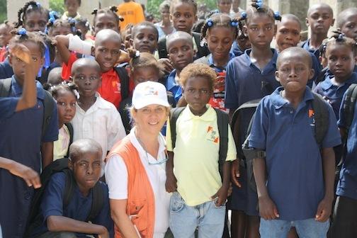 Liliane in Haiti. (Photo courtesy of Step by Step Foundation)