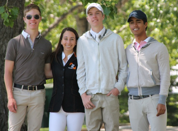 Step By Step riders, from the left, Spencer Brittan, Daniela Stransky, Jackson Brittan and Jose Bonetti. (Photo courtesy of Step by Step Foundation)