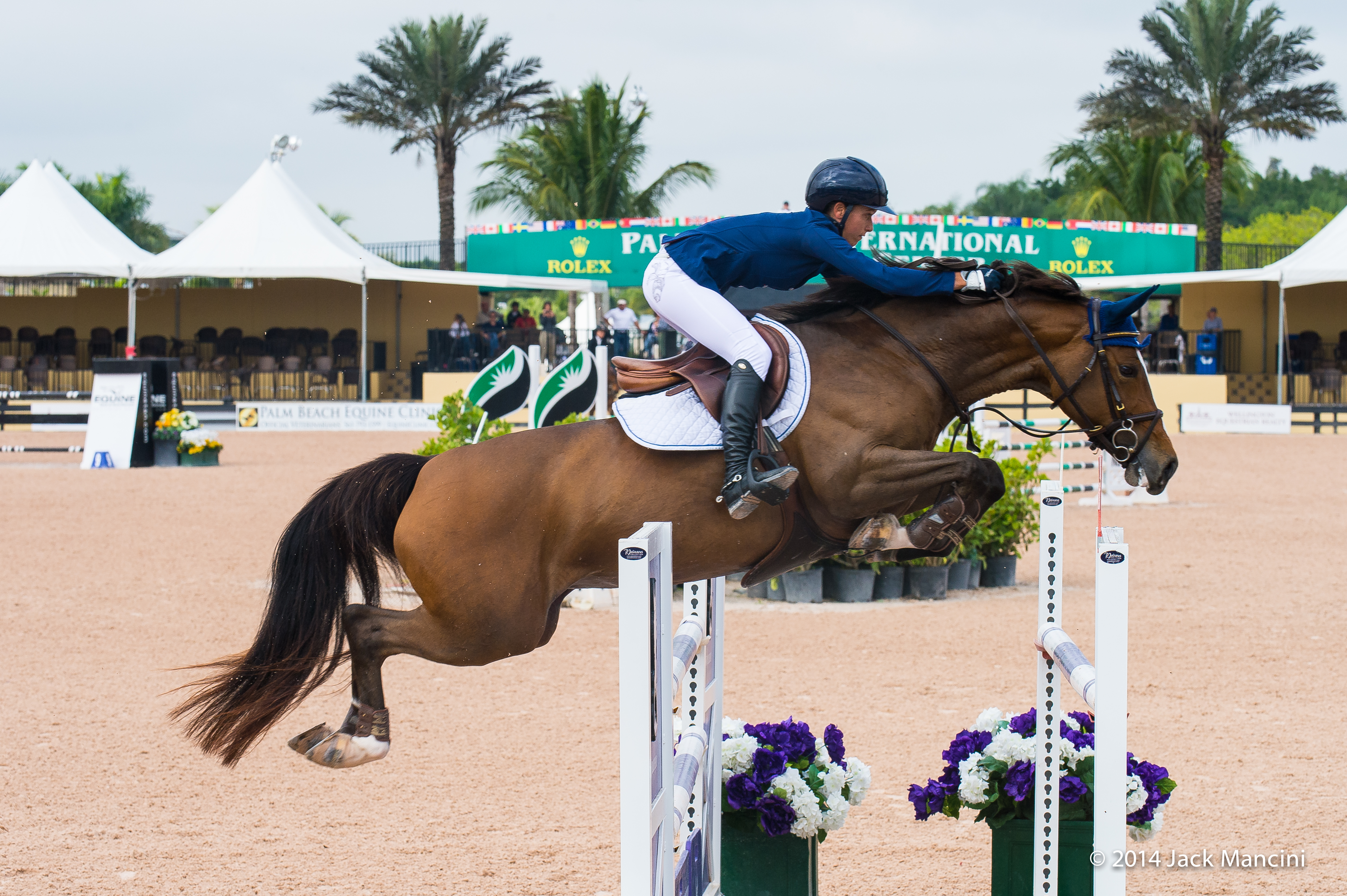 Nataly in the International Ring at the Palm Beach International Equestrian Center in Wellington, Florida. (Photo by Jack Mancini)