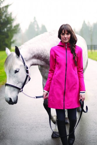 The All Weather Rider Jacket in punch