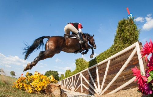 Buck Davidson and Petite Flower at the 2014 Nutrena USEA American Eventing Championships in Tyler, Texas.