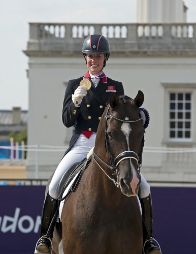 Charlotte and Valegro with their Olympic gold medal.