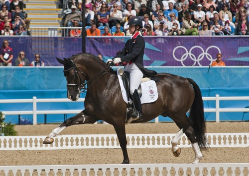 Valegro, known as Blueberry, showing off his extended trot during the 2012 London Olympics.