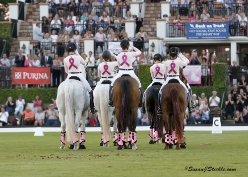 The Challenge of the Americas is a sea of pink — horses, riders and attendees.