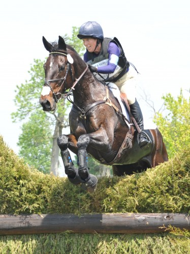 Beth and Sal Dali on the cross-country course at Rolex. Photo by Lauren R. Giannini