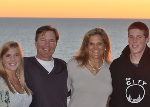 Gail and her family after her diagnosis in 2011. Photo courtesy of Gail Morey