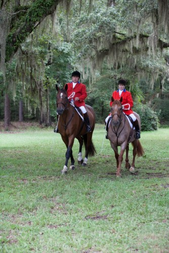 The Blackmores share their love of horses and foxhunting.