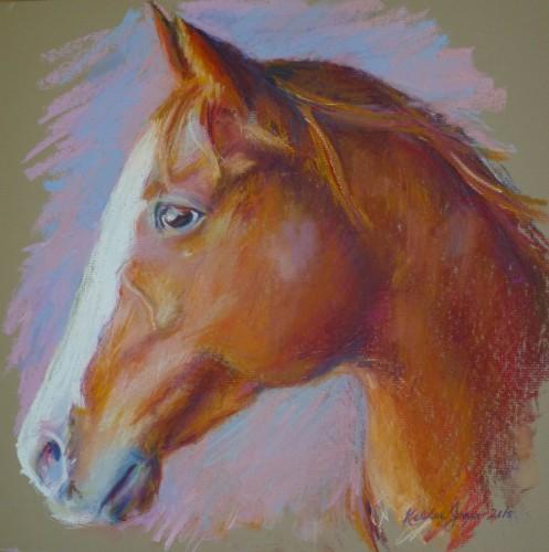 """""""Sara"""" — Pastel on matte board, 14"""" x 16"""""""
