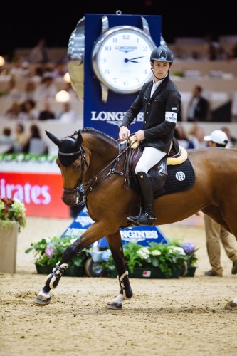 Scott on course at the Longines Masters in Los Angeles. Photo by Bret St.Clair Scott on course at the Longines Masters in Los Angeles. Photo by Bret St.Clair