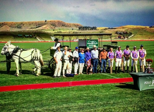 The award ceremony at the Flying H Polo Club.