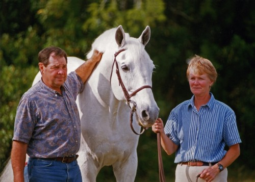 Terry and Sue Williams posing with Abdullah in Florida in the late 1990's. Photo by Janne Bugtrup
