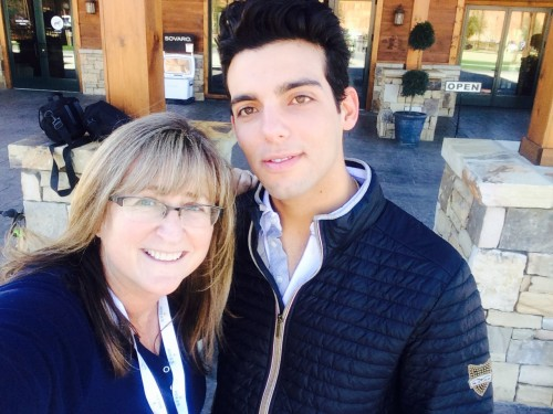 Taking a selfie with Hot Horseman Emanuel Andrade during our photo shoot.