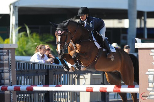 Taje and Drommels at the Winter Equestrian Festival in Wellington, Florida. Photo by SportFot