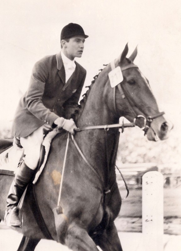 George riding Night Owl in Aachen in 1960. Photo courtesy of George H. Morris