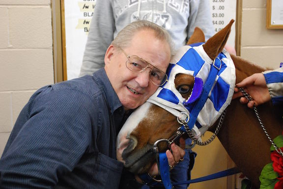 Ron Turcotte, the jockey who rode Secretariat to the Triple Crown win, gets a little love from Patrick.