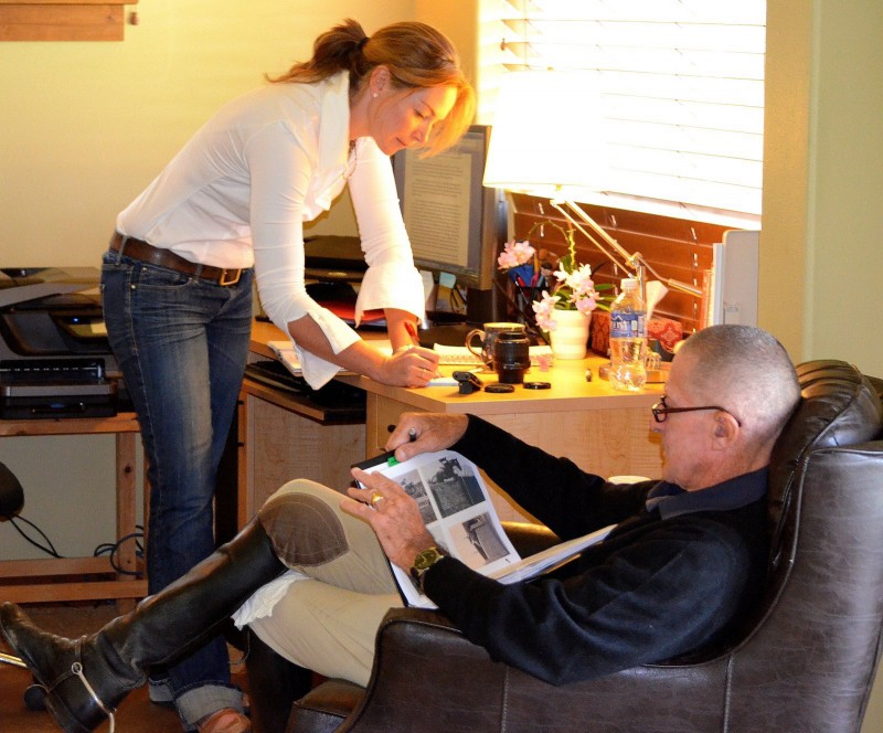 Karen and George in Karen's home in Oregon. Photo by Barbara Dudley