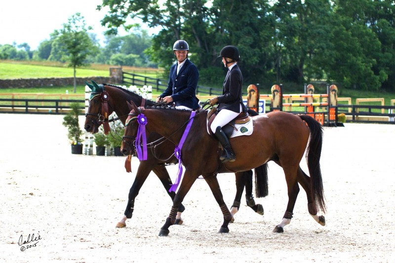 The day both Moylans, riding Alpha Omega Farm's Pernod and Alden Moylan's Pimpernel, placed in the same Grand Prix at Loudoun!   Photo by Callie Broaddus