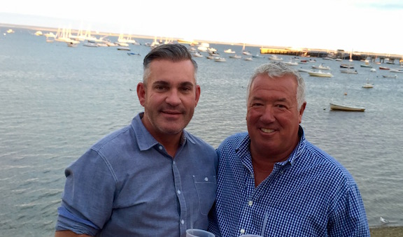 Bradley and Bob in Provincetown, Massachusetts, enjoying some time away from the show.