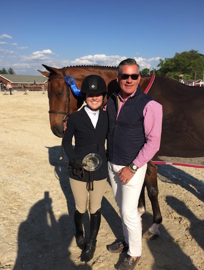 Bradley and his student, winning Junior Hunters, in Wellington, Florida.
