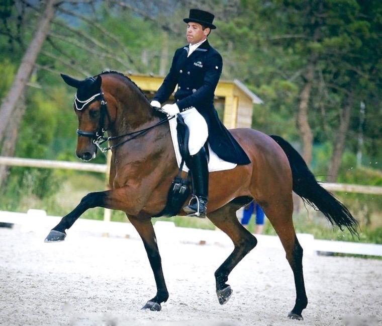 "Jaime truly represents the ""world"" of dressage. Photo courtesy of Myriam Ranchon"