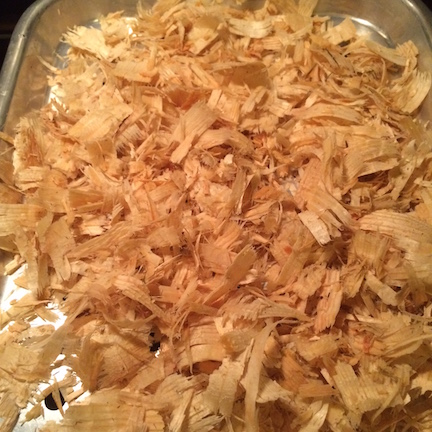 Recycled shavings — the same shavings after used and then cleaned for reuse. Photo by Shelly Moore Townsend