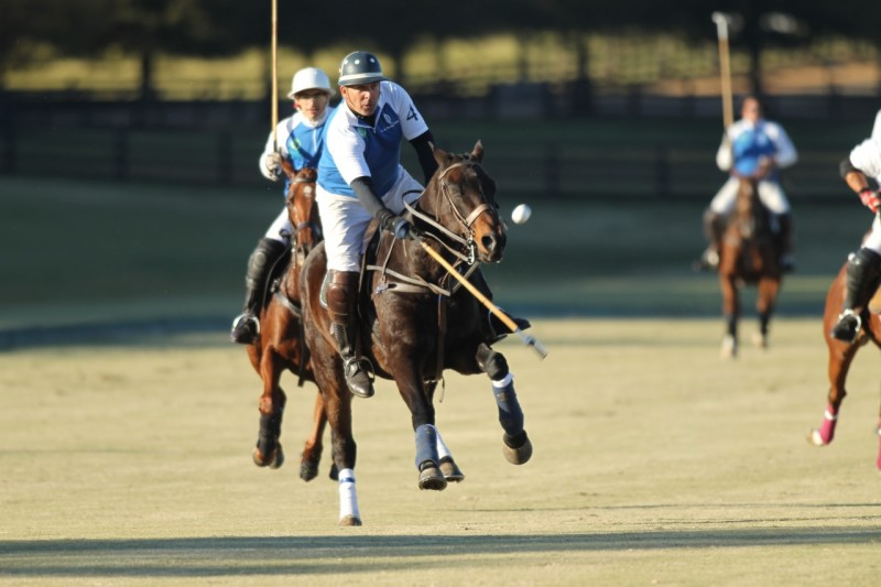 Aiken's Tommy Biddle at New Bridge Polo Photo by Louisa Davidson