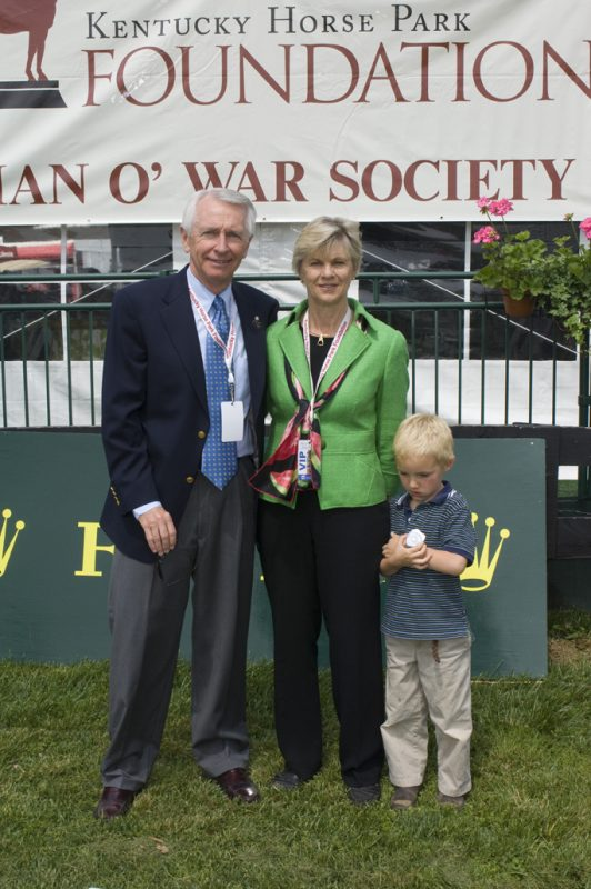 Former Governor Steve Beshear, his wife Jane and grandson Nicholas Photo courtesy of the Kentucky Horse Park/James Shambhu