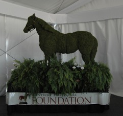 The Kentucky Horse Park Foundation's tent at the Rolex Kentucky Three-Day Event. Photo courtesy of the Kentucky Horse Park