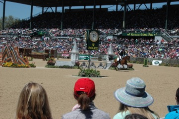 View of the Rolex Kentucky Three-Day Event from the Kentucky Horse Park Foundation's tent. Photo courtesy of the Kentucky Horse Park