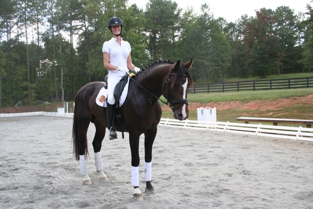 Stephanie rides Marabet Farm's stallion Carry On MF at the Winter Equestrian Festival each year.