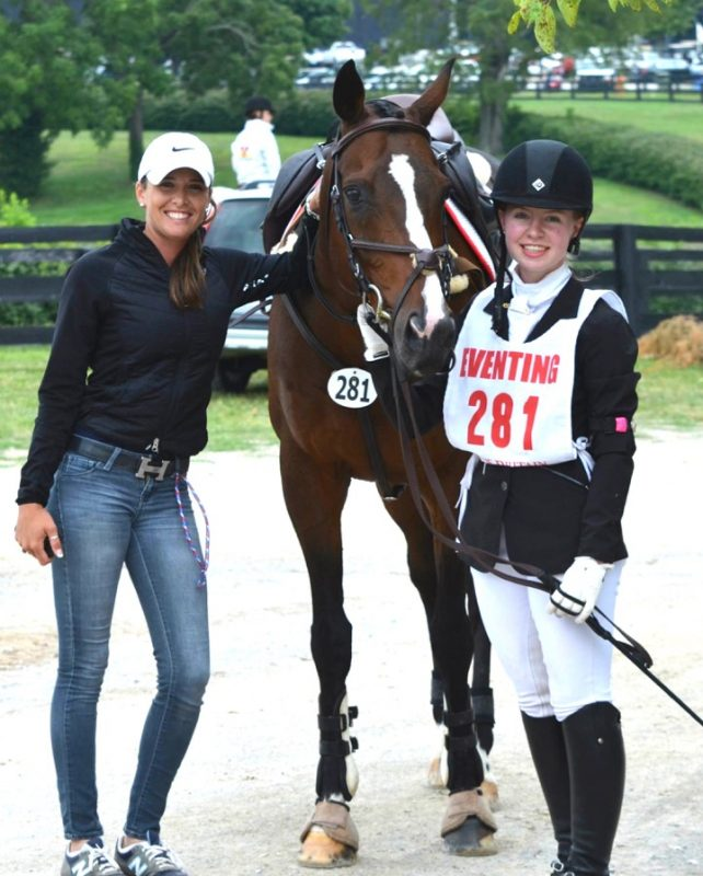 Skyeler, left, with Katherine Pitcher and Trance at the U.S. Pony Club National Finals at the Kentucky Horse Park. Photo by John Pitcher
