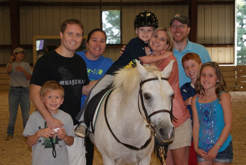 Riders and their families find support and joy at Loudoun Therapeutic Riding in Leesburg, Virginia. Photo courtesy of Loudoun Therapeutic Riding