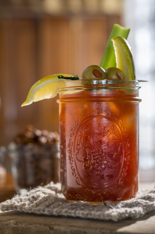 A Bloody Mary: Enjoy dinner and drinks at the Mirror Lake Inn.