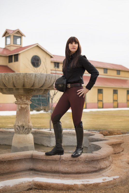 Sarah, in Mastermind Breeches, has been modeling on and off since she was a child. Photo by Mary Neiberg
